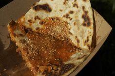 Kimchi quesadilla by @nlbaines, www.lostinthelarder.com Quesadilla, Kimchi, Truck, Bread, Usa, Food, Meal, Trucks, Essen