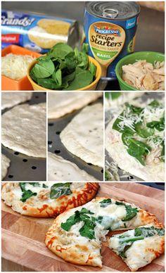 Chicken Alfredo Biscuit Pizzas