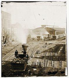 Atlanta, Georgia. Railroad Yards 1864
