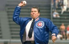 Presidential First Pitch:  Ronald Wilson Reagan (1981-1989) (1911-2004)
