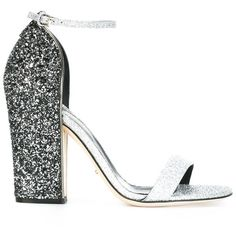 Sergio Rossi embellished heel sandals (19.140 CZK) ❤ liked on Polyvore featuring shoes, sandals, grey, metallic sandals, grey leather shoes, metallic leather sandals, heeled sandals and sergio rossi shoes