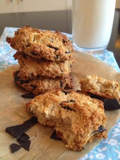 Cookies de Chocolate Chip, Paleo (Sin Gluten, ni Azúcar Refinada) | The Saffron Girl, un blog Paleo