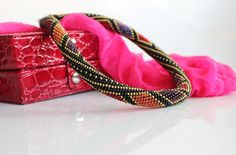 FREE SHIPPING!!! Handmade seed Beaded crochet necklace