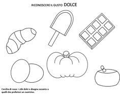 Schede sul gusto da stampare. Scarica pdf schede sul gusto