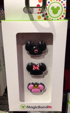 Amazon.com : Disney Parks Mickey Mouse Hats Magic Band Bandits Set of 3 NEW Charms : Everything Else