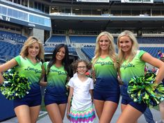 Ava with the Sea Gals in CenturyLink Field 8/10/13