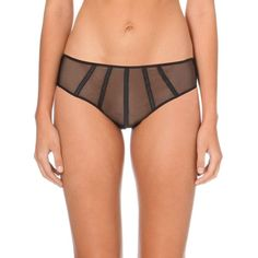IMPLICITE Talisman mesh shorts (750 UAH) ❤ liked on Polyvore featuring intimates, panties and black