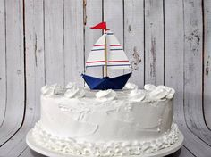 Mini Paper #sailboat #cake topper made to order by Msapple on #Etsy, $3.00