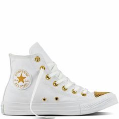 Converse White and gold New Arrival 2017 www.calzatureastolfi.com  shoes   converse  outfit  shoponline d30a64e431