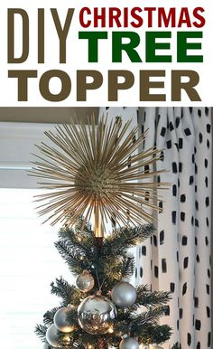 DIY Christmas Tree Topper - DIY projects for teens - Yorgo Diy Christmas Tree Topper, Diy Tree Topper, Christmas Crafts For Kids, Christmas Diy, Christmas Decorations, Xmas Tree, Christmas Projects, Christmas Ornaments, Diy Projects For Teens