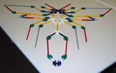 Use K'NEX to make two dimensional models of bugs. Site has examples of several types of bugs done this way. Types Of Bugs, Bug Art, Construction, Legos, Decoration, Crafts For Kids, School, Wasp, Projects