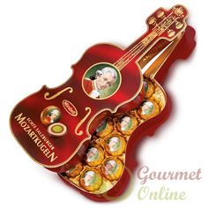 Praline Mozart, Vioara, 12 bile, 200g Violin, Bracelet Watch, Accessories, Gourmet, Xmas, Watch