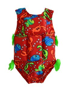 My Pool Pal Girl's Flotation Swimsuit: Red Crab
