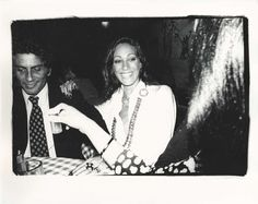 Marisa Berenson at Studio 54. Photo by Andy Warhol, c. 1970s.