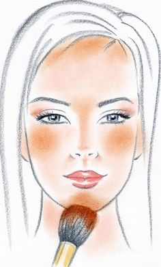 Where to apply bronzer