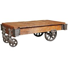 Vintage Industrial, Lineberry Cart/Coffee Table | From a unique collection of antique and modern carts at https://www.1stdibs.com/furniture/more-furniture-collectibles/carts/