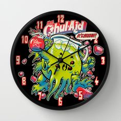 CTHUL-AID Wall Clock by BeastWreck - $30.00