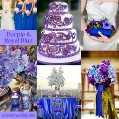 purple blue and silver winter wedding ideas - Google Search