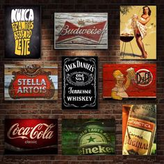 One of the numerous dorm room ideas you can do is to get a set of bed risers. Bar Vintage, Bar Retro, Deco Retro, Home Pub, My Bar, Bar Counter, Restaurant Design, Vintage Posters, Coca Cola