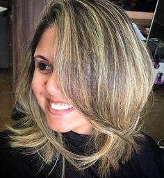 Medium+Brunette+Hairstyles+With+Blonde+Highlights