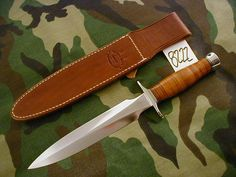 "RANDALL KNIFE KNIVES #2-8"",SS,NS,ABS,LEATHER,DB,WT #8222"