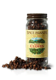 CLOVES, WHOLE  Cloves come from the dried, unopened flower buds of a small evergreen tree native to the fabled Spice Islands.    They have a strong, sweet, fruity taste that's also sharply hot and pungent. And can leave your mouth feeling a little bit numb.    The warm, lingering flavor of cloves works well with both sweet and savory dishes. But be sure to use them sparingly as their potent flavor and aroma can easily overpower other spices.