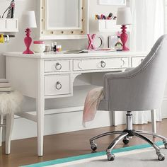 girl teen bedroom tips and diy features include annie sloan chalk paint vintage furniture refinish study area desk chalkboard pau2026 - Teen Desks