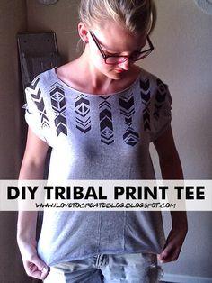 iLoveToCreate Blog: DIY Tribal Print Tee