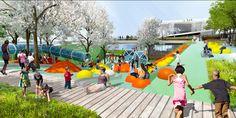 OMA + OLIN, seleccionados para diseñar el Puente-Parque de la calle 11 en Washington D.C,© OLIN