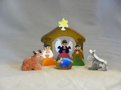 Wooden Nativity set, hand made decorative puzzle
