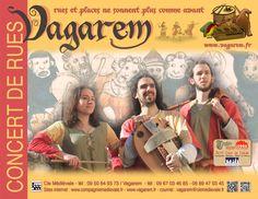 La compagnie médiévale. Vagarem. Concert de rue.