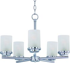 Maxim Lighting 10205FTSN Corona 5-Light Chandelier