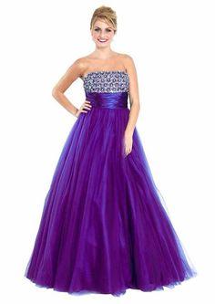 Strapless Chiffon Goddess Gown Prom Dress Formal Junior Plus Size ...