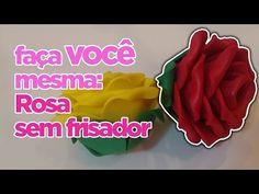 Como fazer Rosa sem Frisador em EVA | Criatividades da Dê - YouTube Projects To Try, Blog, Crafts, Bolo Fake, Reuse, Biscuit, Youtube, Paper Roll Crafts, Diy And Crafts