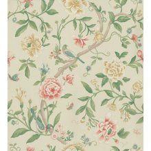Sanderson Wallpaper Porcelain Garden Red/Beige