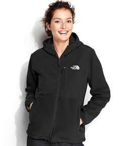 The North Face Jacket, Hooded Denali Fleece - Coats - Women - Macy's