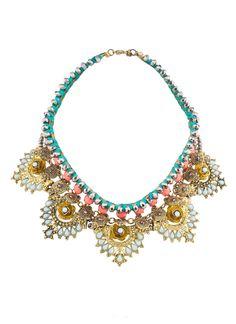 Shop Prima Donna - Coraline Statement Collar Peach/Mint