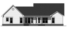 Rear Elevation of Country   Craftsman   Traditional   House Plan 59950