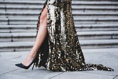 draped in gold