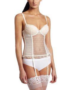 Betsey Johnson Women's Dot Tulle Longline Bustier Betsey Johnson. $88.00. garter straps. Made in China. hook n eye back. Hand Wash. 100% Nylon
