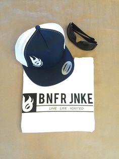 Bonfire Junkie signature white tee