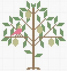 hancock's house of happy: Lemon Tree Very Pretty: Free Traditional Cross Stitch Pattern
