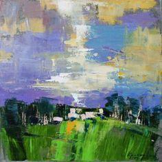 """Saatchi Art Artist Anastasiia Kraineva; Painting, """"Landscape. Charmed"""" #art"""