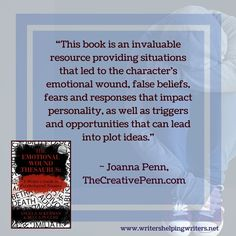 The Emotional Wound Thesaurus Book will help you understand how painful past events shape and motivate characters.
