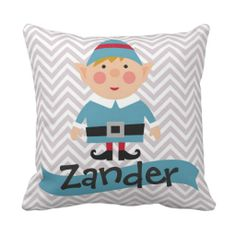 Personalized Kids Christmas Elf Pillow-- some reason I am in love with this! Must make one!!!!