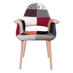 Krzesło A-shape patchwork - inspirowane Organic Chair patchwork Outdoor Chairs, Outdoor Furniture, Outdoor Decor, Patchwork Chair, Scandinavian, Shapes, Collection, Organic, Home Decor