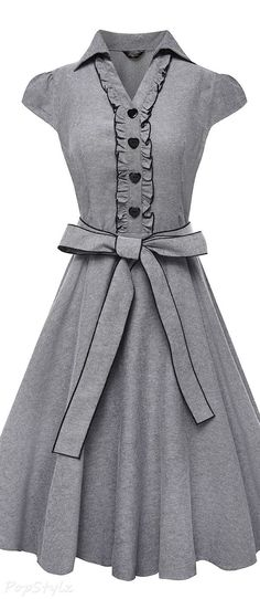 Anni Coco Vintage 1950s Cap Sleeve Swing Party Dress