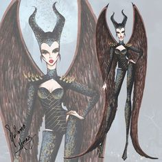 Winged Maleficient - Haute Couture by Guillermo Meraz