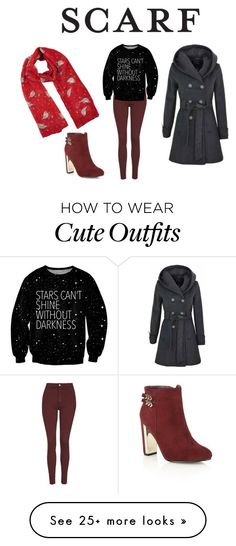 """""""Red Robin Scarf Outfit"""" by ditsydot19 on Polyvore featuring Topshop"""