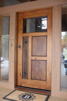 The perfect entry door. eclectic front doors by Appalachian Woodwrights Wood Entry Doors, Entrance Doors, Wooden Doors, Barn Doors, Rustic Doors, Rustic Entry, Eclectic Front Doors, Contemporary Front Doors, Rustic Contemporary